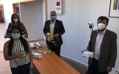 Entregan elementos sanitarios a centro de atención de la Corporación de Asistencia Judicial en Ñuble.