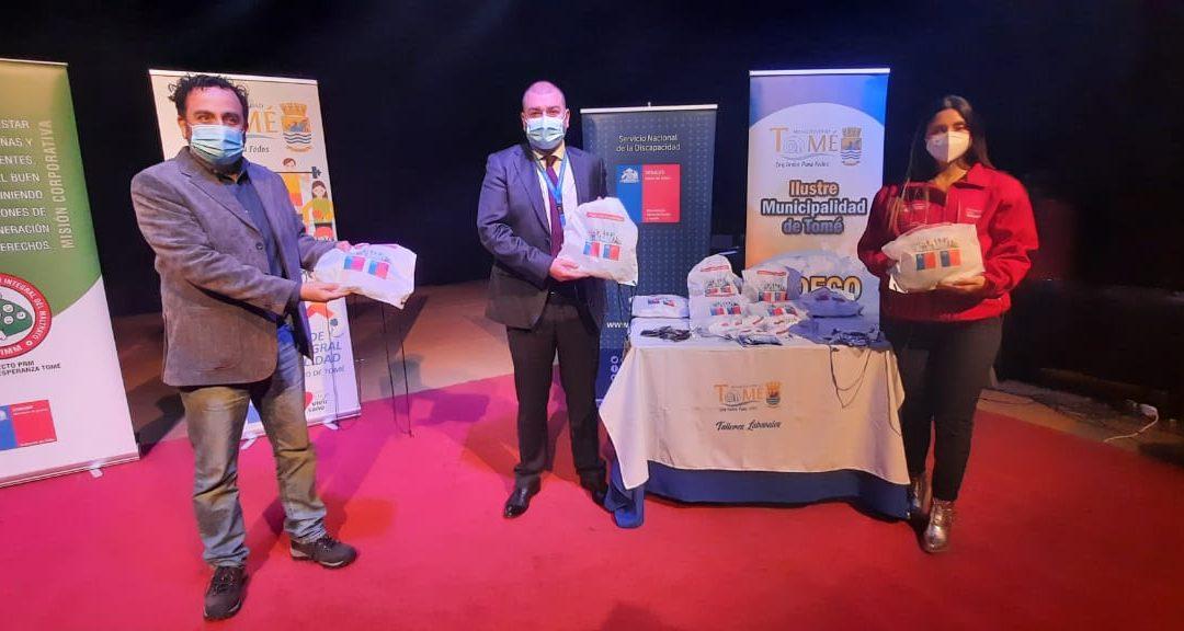Convenio CAJBiobio-Senadis entrega kits inclusivos y difunde labor con organizaciones sociales y municipio de Tomé